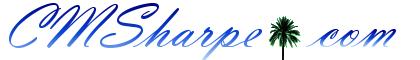 New CMSharpe.com logo